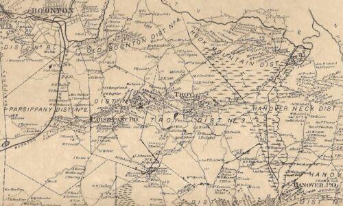 Morris Plains Whippany Parsippany Hanover NJ 1868 Maps w/ Homeowners Names Shown