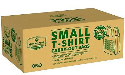 2000 Commercial Grocery Convenience Store Plastic SMALL T-Shirt Thank You - Thank You Bags