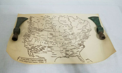 Antique Native American Indian Tribe Map Tribal Tribes Map Indians Collector