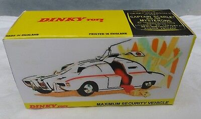 DINKY CAPATAIN SCARLET 105 MAXIMUM SECURITY VEHICLE REPRODUCTION DISPLAY BOX