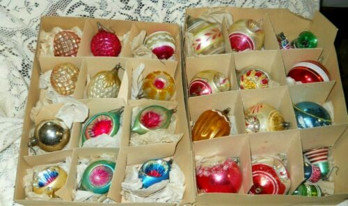 ANTIQUE GERMAN Mercury GLASS  TEARDROP Bells CHRISTMAS ORNAMENTS  Waffle Indent