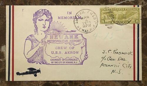IN MEMORIAM NEWARK AIRPORT CREW OF U.S.S. AKRON DISASTER APRIL 4,1933 COVER