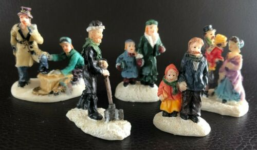 Christmas Village Lot of 5 Miniature Different Figurines