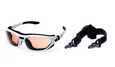 Alpland Skibrille Schutzbrille Sonnenbrille mit 70% mehr Kontrast für Allwetter