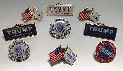 Donald Trump Make America Great Again Lapel Pin Lot Patriotic  Made In Usa  45Th