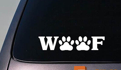 "WOOF 6"" STICKER DECAL RESCUE DOG Poodle Shihtzu PITBULL YORKIE BLACK LAB Bichon"