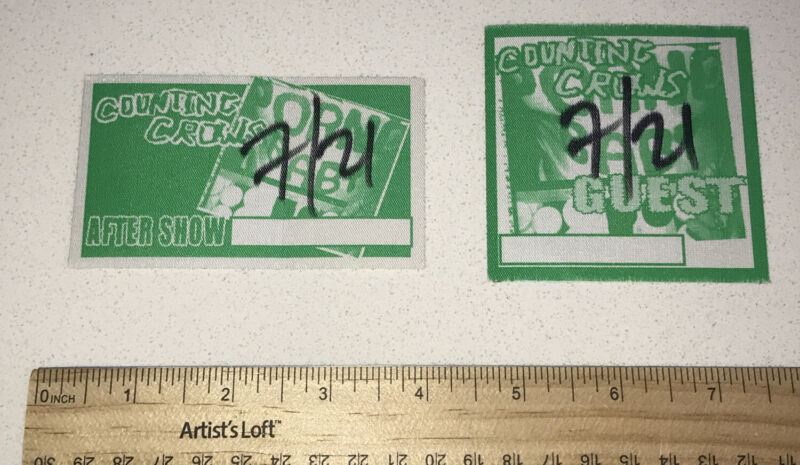 Counting Crows 7/21 Guest Aftershow Music Concert Sticker Ticket Stub Lot x (2)