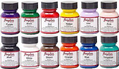 Angelus Acrylic Shoes Boots Handbags Leather Paint/Dye 1 oz/29.5 mL