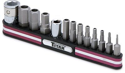 Titan 16135 Tamper Resistant SAE Hex Bit Socket Set - Pack of 13