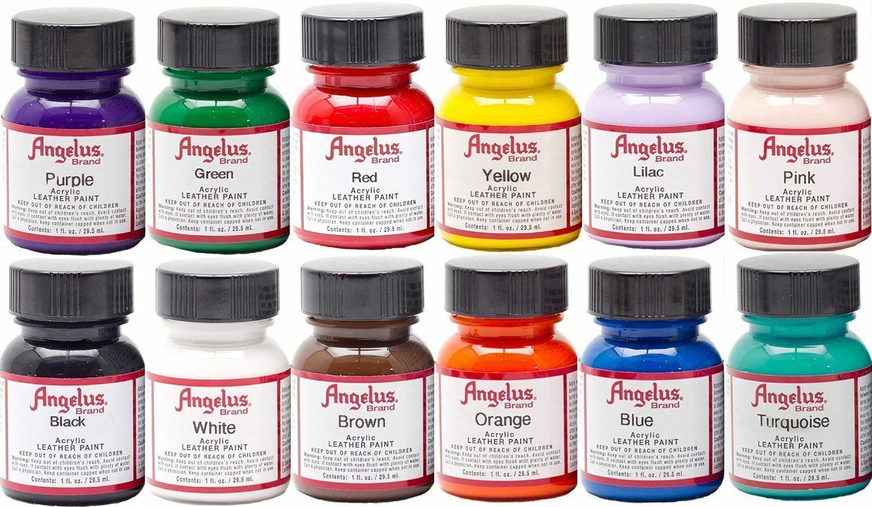 Angelus Acrylic Leather Paint /Dye – Leather & Vinyl – 1 Fl Oz Sneaker Paint Acrylic Paint