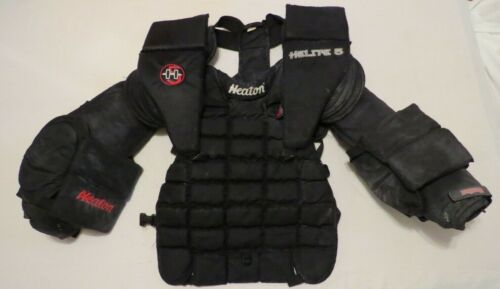Used Heaton Helite 5 Pro Stock Hockey Goalie Chest Protector Size Large! Flyers