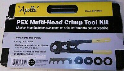 Apollo Pex 69ptkh0015k Multi-head Crimp Tool Kit 38 - 12 - 34 -1 Inch