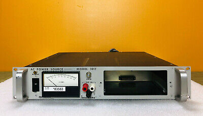 California Instruments Invertron 101t Ac Power Source Repairparts
