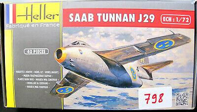Heller - Saab J29E/S29C Tunnan - 1/72 Plastic Model Kit (Ref.798)