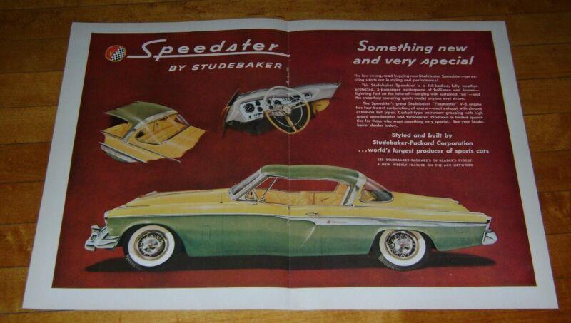 1955 Speedster by Studebaker Magazine Print Ad