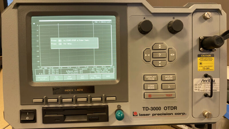 Laser Precision Corp. TD-3000 OTDR without power Cord.