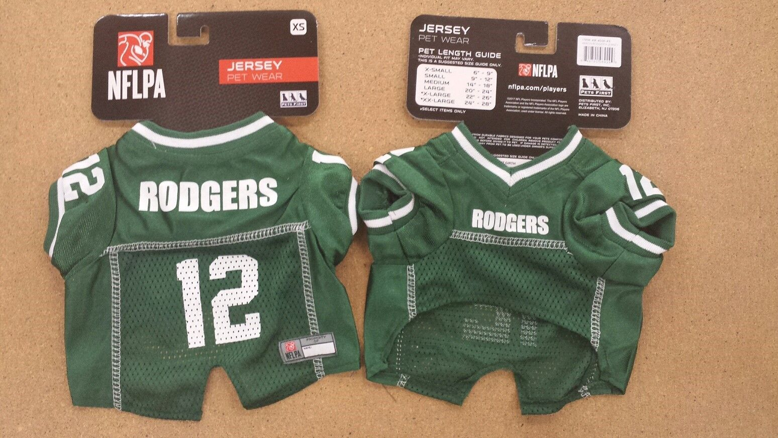 buy popular dccae 2bc39 Aaron Rodgers Green Bay Packers #12 Licensed NFLPA Dog ...