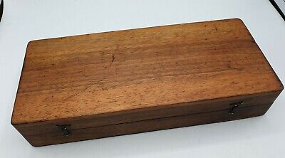 Small Antique Mahogany Box 22.5 x 10 x 4cm