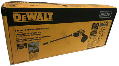 DEWALT DCPW550B 20V MAX Cordless 550 PSI Power Cleaner Washer New