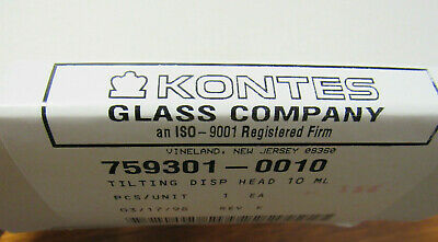 Kontes Glass Co. Tilting Disp Head 10ml  759301-0010