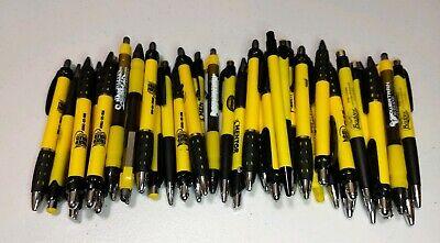 40 Piece Bulk Lot Of Misprint Yellow Retractable Click Clicky Pens Free Ship