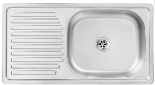 Edelstahlspüle Einbauspüle Edelstahl Küchenspüle Spülbecken 75x40 Modern Design