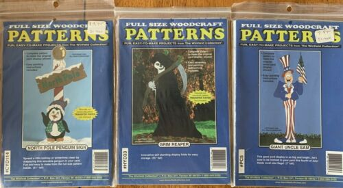 3 Winfield Collection Woodcraft Patterns Outdoor Holiday Projects ~Lot