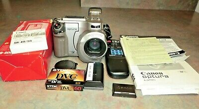 Canon Optura Camcorder Video Camera Mini DV CB-900 CA-900A WL-D86 WORKS NICE