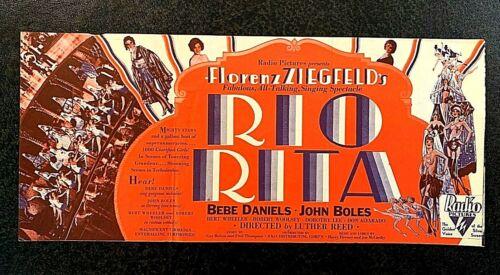 RIO RITA MOVIE HERALD 1929 - BEBE DANIELS, JOHN BOLES, BERT WHEELER