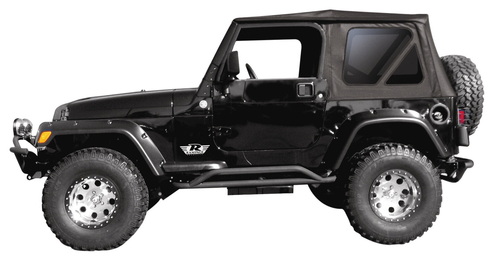 2010 2017 jeep wrangler 2 door replacement soft top tinted windows picclick. Black Bedroom Furniture Sets. Home Design Ideas