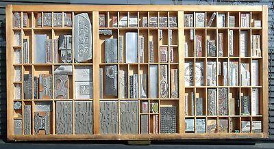 - Letterpress Art Wall Hanging Vintage Type Drawer Whittier CA USA Printing Dies#2