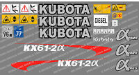 Kubota Kx61-2a Mini Escavatore Decalcomania Set -  - ebay.it