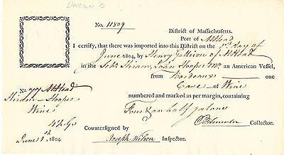 [British Surrender] Washington Appointee Benjamin Lincoln, Port Collector in MA