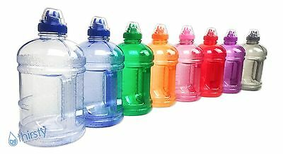 - BPA Free Water Bottle Half Gallon Drink Gym Canteen Jug Container Colors 64 oz