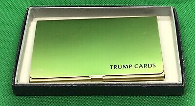 Trump Cards Brass Business Card Holder New In Box
