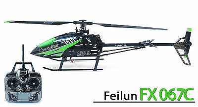 Feilun FX067C 4-Kanal 2,4GHz Flybarless Helikopter komplett Ready to Fly
