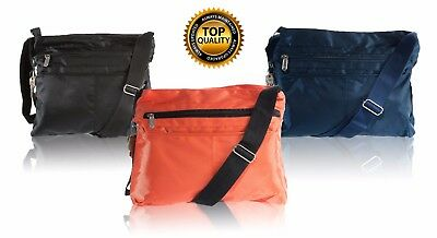 Suvelle Classic Crossbody Everyday Travel Shoulder Bag 3 Colors Nylon NEW