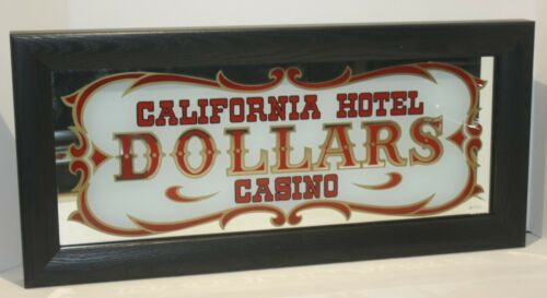 "Vintage California Hotel Casino Slot Machine Glass - Nicely Framed - 23""x10.5"""
