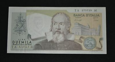 West Point Coins ~ Italy 1973 2,000 Lira Note #103b