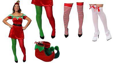Weihnachten Elfen Kostüme (ELF SEXY KLEID ERWACHSENE KOSTÜM WEIHNACHTEN VERKLEIDUNG SANTA'S HELFER WICHTEL )