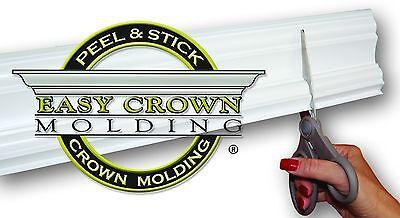 "4"" Peel & Stick EZ Crown Molding - L room 68"