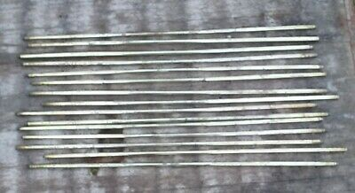 A Set Of 15 vintage  Brass Stair Rods 32 inch long