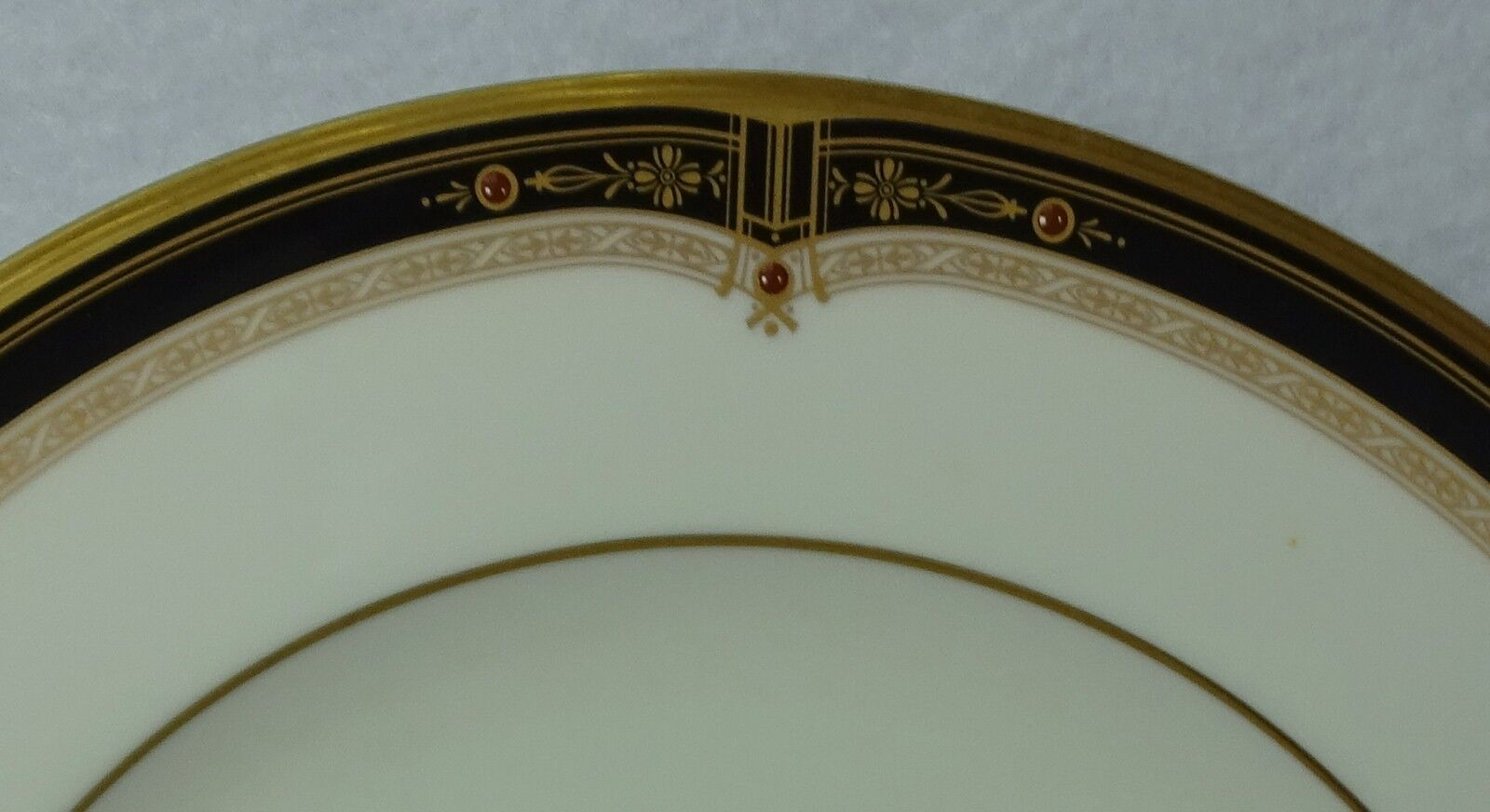"""NORITAKE china GOLD AND SABLE 9758 pattern Salad or Dessert Plate - 8-1/2"""""""