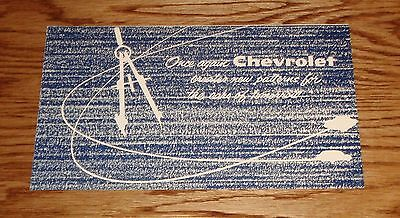 Chevrolet Nomad Concept Car (Original 1955 Chevrolet Corvair & Nomad Concept Car Sales Brochure 55 Chevy)
