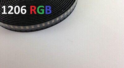 50x Rgb 1206 Led 4pin Lamp Light Smd Smt Surface Mount Usa