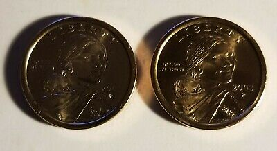 2003 P & D $1 Sacagawea Native American Gold Dollar  2 Coin Set From Mint Rolls Sacagawea Golden Dollar 2 Coin