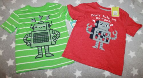NEW Target store Circo toddler Boys Robot short sleeve shirt green red 5T NWT