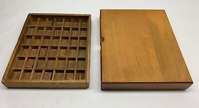 Engraving Brass Font Letters Numbers Wooden Box 178 Piece Lot 101380
