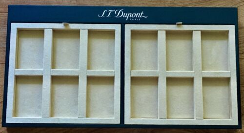 S.T. Dupont Lighter, Jewelry, and Accessory Tray, Black and Tan, New In Box