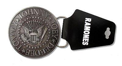 Bravado Adult Ramones Classic Circle Seal Logo Band Metal Belt Buckle Official